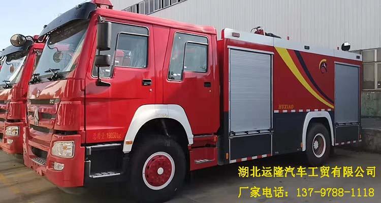 重汽16吨水罐消防车和重汽8吨泡沫消防车顺利下线(图4)