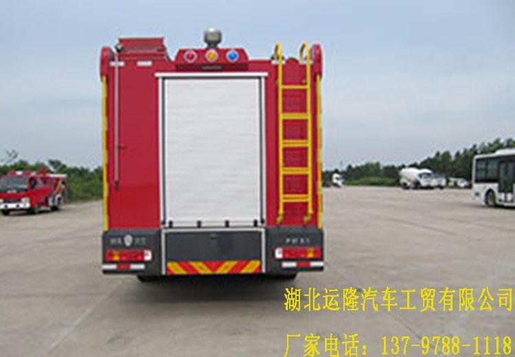 重汽16吨水罐消防车和重汽8吨泡沫消防车顺利下线(图6)